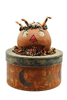 Early Vintage Halloween Lidded Candy Box