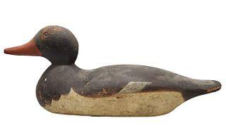 Antique Wooden Handpainted Decoy Mallard Duck