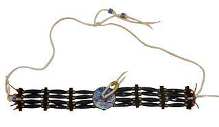 Native American Black Hairpipe Abalone Choker
