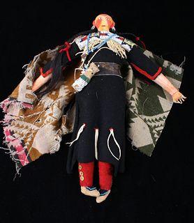 Sioux Beaded Hide & Clothe Doll c. 1890-1900