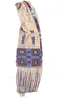 Northern Cheyenne Beaded & Quilled Pipe Bag c.1870