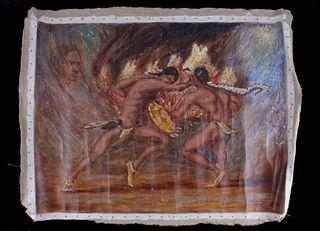 Richard Headley Shaman's Vision Oil on Canvas 1993