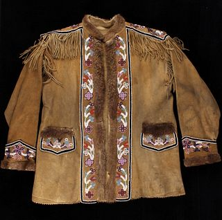 Cree Beaded Hide Scout Jacket c. 1890's