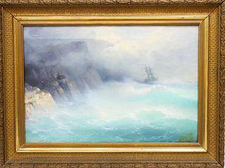 Ivan Aivazovsky (1817-1900) Russian, Oil on Canvas