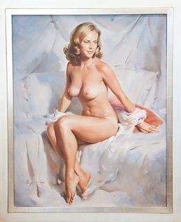 Gil Elvgren (1914-1980) American, Oil on Canvas
