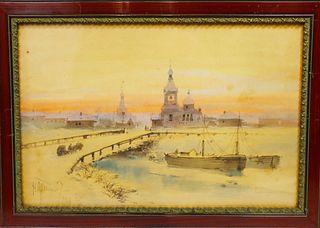 Nikolai Dmitrievich Prokofiev (1866-1913) W/C