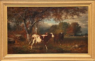 James McDougal Hart (1828-1901) Oil on Canvas
