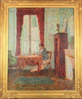 T Gilbert White (1877-1939) American/French, Oil/C