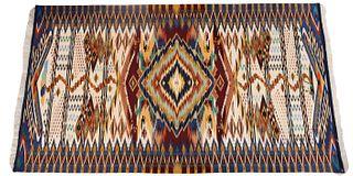 Irvin Trujillo. Woven Chimayo Blanket 14k Threads