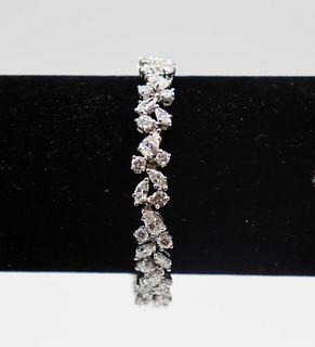 Vintage Ladies Diamond Cluster Style Bracelet