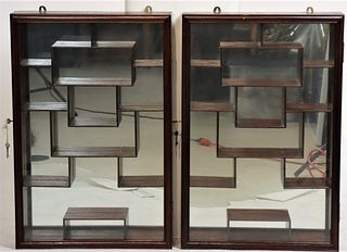 Pair of Chinese Snuff Bottle Cabinets
