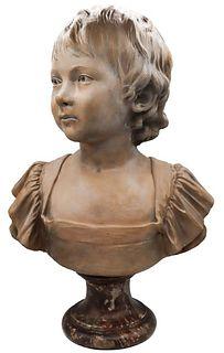 Jean-Antoine Houdon (1741-1828) Terracotta Bust