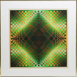 Victor Vasarely (1906 - 1997) Signed Litho 167/250