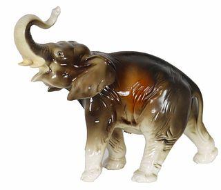 Royal Dux Czechoslovakian Porcelain Elephant