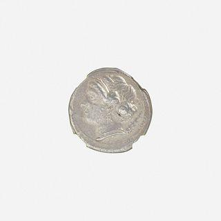 Ancient Greek (Hellenistic), Campania, Neapolis, AR Didrachm