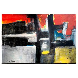 Emile Gerard Abstract Modernist Oil on Canvas Painting
