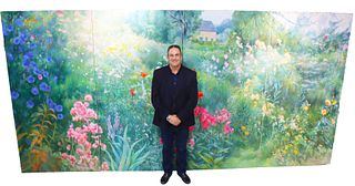 Gail Symon Hicks (20th C) Massive 4 pc Oil on Canvas