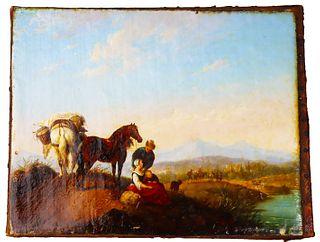 Philips Wouwerman (1619-1668) Dutch, Oil/Canvas