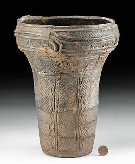 Japanese Jomon Incised Pottery Vessel 4500 Years Old
