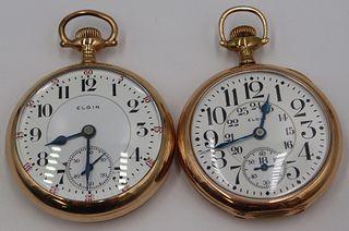 """WATCHES. (2) Elgin """"Veritas"""" Watches."""