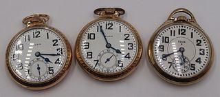 WATCHES. (3) Elgin B.W. Raymond Railway Watches.