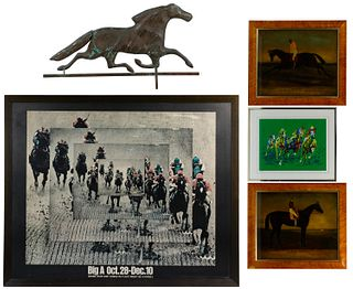 Horse Racing Themed Object Assortment