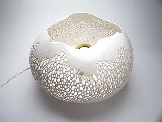 Low Large Lacy Lamp