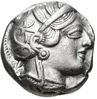 Ancient Greek Silver Tetradrachm c. 454-404 BC ATHENA & OWL