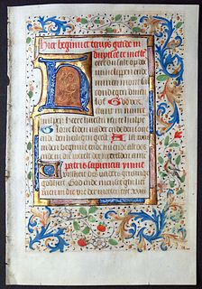 Book of Hours Leaf, circa 1475 - Written in Dutch - Elaborate borders