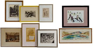 Watercolor, Etching and Print Artwork Assortment