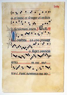 Medieval Gregorian Chant, circa 1460-90 - Courtesy Charles Edwin Puckett