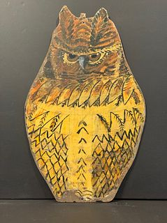 Folk Art Owl reverses to Clearwater Beach Sightseeing Boat, dated 1931