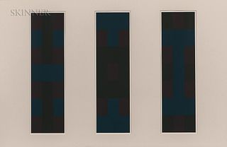Ad Reinhardt (American, 1913-1967) Plates 2, 3, and 4, from the suite Ten Screenprints, 1966, edition of 250 plus proofs, published by