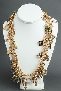 Chanel Runway Gold-Tone Charm Necklace, c. 2002