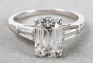 Diamond & Platinum Ring, Approx: 3 Ct., GIA