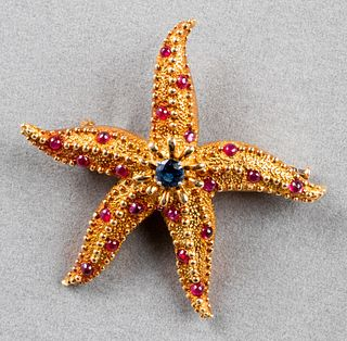 Tiffany & Co Schlumberger 18K Gold Starfish Brooch