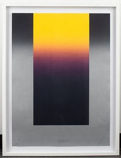 Larry Bell Untitled Lithograph in Colors, 1989