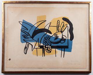 """Fernand Leger """"Nature Morte Aux Fruits"""" Lithograph"""