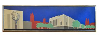 Odeon Tribeca Large Linoleum NYC Cityscape