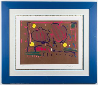 """Peter Max """"Earth Flowers"""" Pop Art Lithograph"""