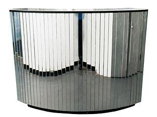 Art Deco Mirrored & Ebonized Standing Dry Bar