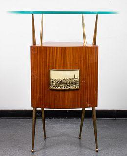 Gio Ponti Style Mid-Century Bar Cabinet
