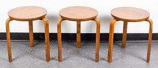 Alvar Aalto Mid-Century Modern Stacking Stools, 3