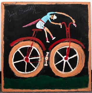"Jimmy Lee Sudduth ""Bicycle Man"" Outsider Art"