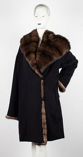 J. Mendel Paris Mink Fur Trimmed Coat
