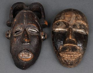 African Carved Wood Masks, 2