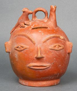Pre-Columbian Style Pottery Head