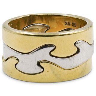 Georg Jensen 18k Tri Color Gold Fusion Ring