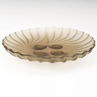R. Lalique Glass Dish