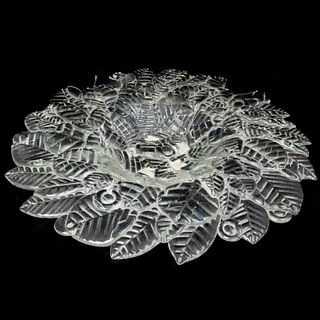 Large Rosenthal Studio-Line Limitierte Kunstreihen Glass Leaf Bowl